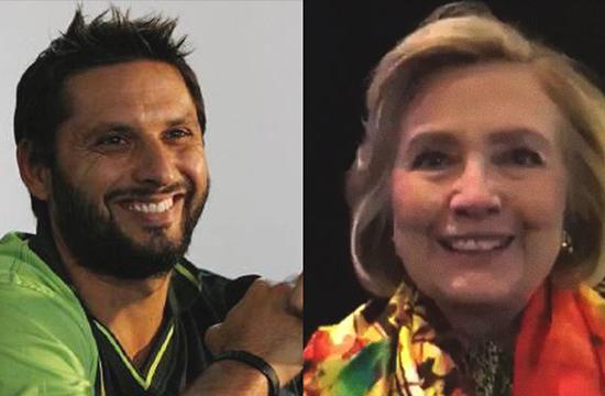 Hillary Clinton has a message for Shahid Afridi