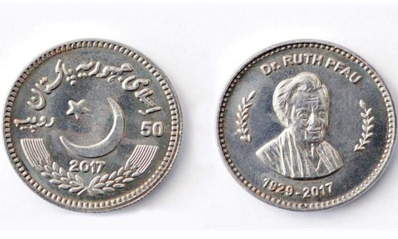 SBP reveals Rs50 coin in the local market in memory of Dr. Pfau