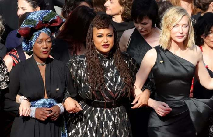 Cannes Festival: 82 women stage an uncalled red-carpet protest to press for gender equality in the film-industry