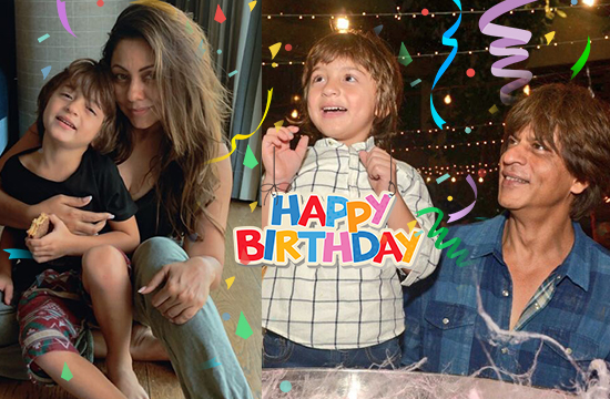 Shah Rukh Khan wishes his son AbRam on his 5th birthday