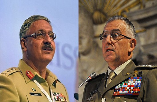 JCSC Chairman Gen Zubair Hayat meets Italian counterpart during a visit to Italy