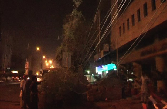 Trees along Abdullah Haroon Road chopped down in Karachi