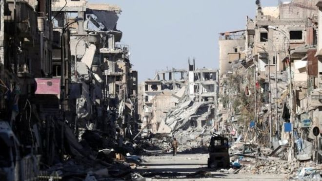 "Syria: the ""hundreds of civilians"" that the ""war of annihilation"" of the United States left in Raqqa, the former capital of Islamic State"