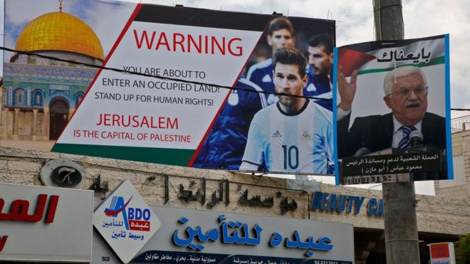 Suspend friendly match between Israel and Argentina after protests by Palestinians