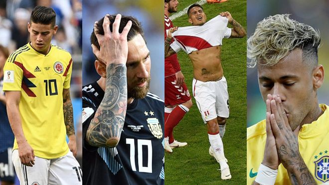 Russia 2018: the worst start in South America in more than 40 years in a World Cup