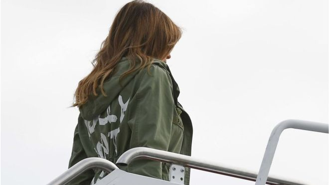The controversial Zara jacket worn by Melania Trump during her visit to children separated from their parents at the border