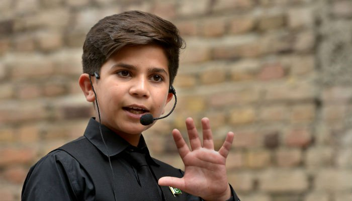 Pakistanis enchanted by 11-year-old motivational coach