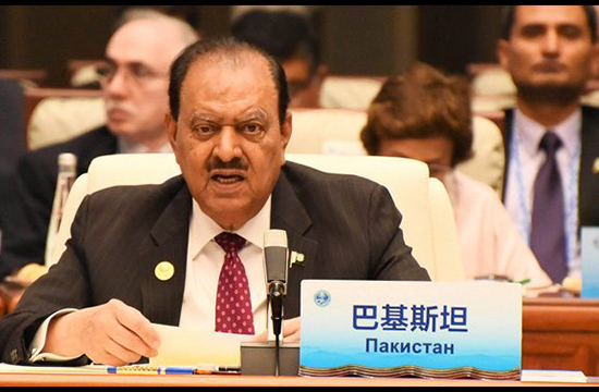 Pakistan rendered great sacrifices in war on terror: president tells SCO