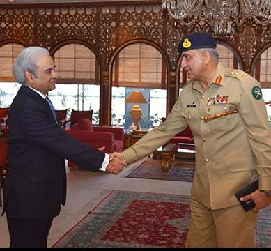 Army Chief Gen. Bajwa meets Caretaker PM Nasirul Mulk