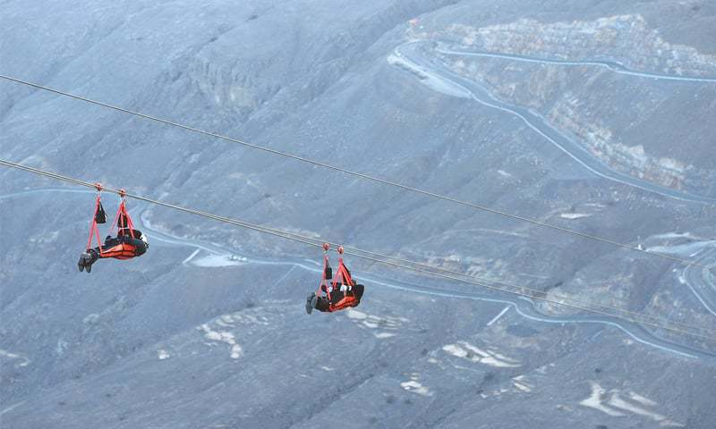 UAE introduces record breaking world's longest thrilling zip line in Ras Al-Khaimah