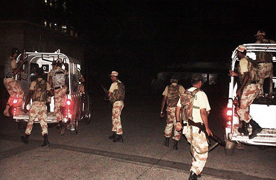 1 ranger official expires while 2 others suffer from injury during a terrorist attack in Karachi's korangi area