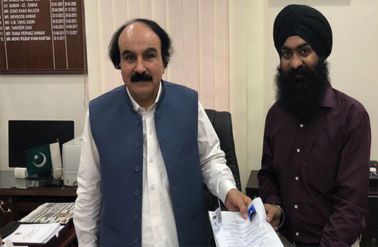 Sardar Ramesh Singh files nomination papers for reserved minority seat for Sindh Assembly as an independent candidate