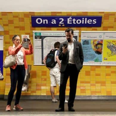 Paris temporarily renames Metro Stations in the honor of World Cup stars' championship