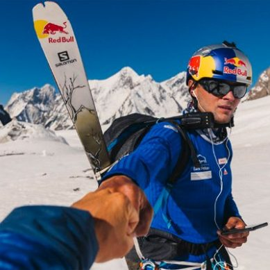 Polish national Daredevil Andrzej Bargiel, the first to descent world's second-highest mountain K2