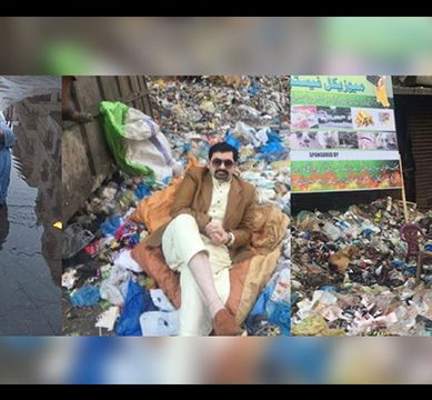 The Lighter Side of Elections: This Political Candidate In Karachi Is Literally Laying In The Sewage To Get Votes And No One Is Buying It