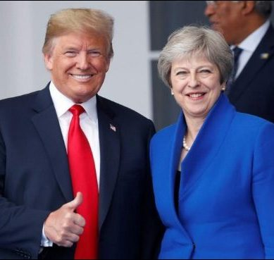 May shuns Trumps brutal suggestion to 'sue The EU', while Trump decides not to comment any further