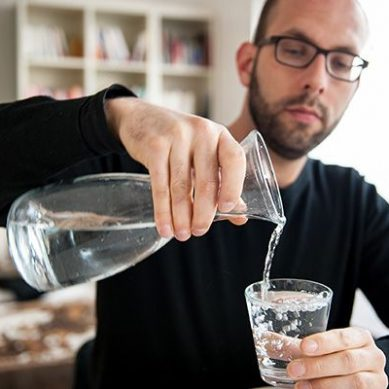 Chugging water during meals could be hazardous