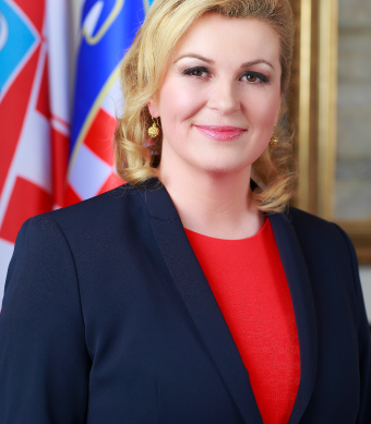 "Kolinda Grabar-Kitarovic, the popular president ""fan"" of Croatia who is accused of defending xenophobic policies"