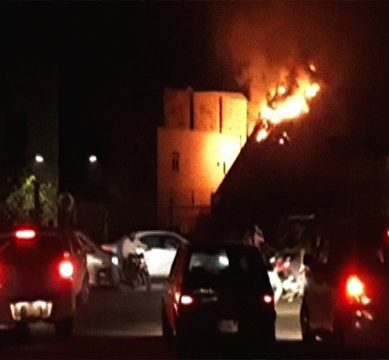 Lahore's Expo Centre set aflame, officials doused fire an hour later