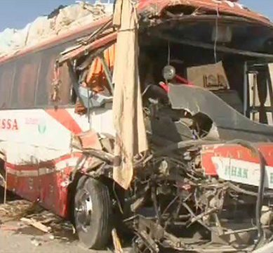 Van accident injures 24 students in Peshawar