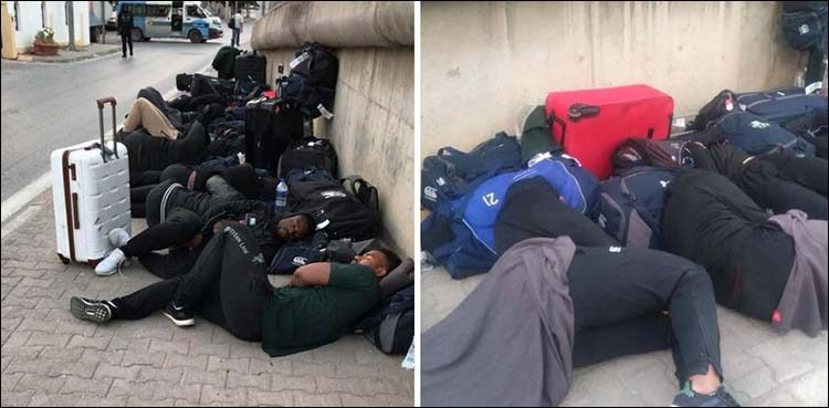 Zimbabwean team complains about the poor hotel conditions and its mismanagement, opted to sleep on the streets instead