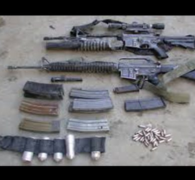 Huge cache of weapons and ammunition recovered during intelligence-based operations in South Waziristan and Dera Bugti areas