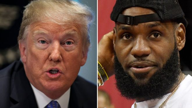 The hard cross of criticism between Donald Trump and basketball player Lebron James (and the reactions it generated)
