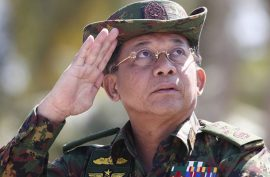 Facebook bans Myanmar army chief over rights abuses