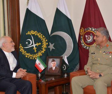 Army chief, Iranian foreign minister discuss regional security
