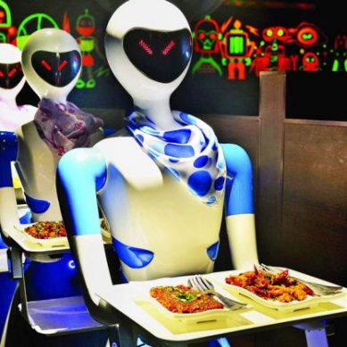 Redefining restaurants with chip labor: Robots replace waiters