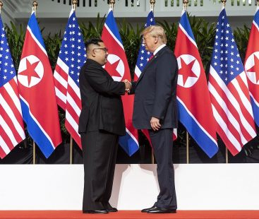 Trump celebrates absence of nuclear missiles in North Korean military parade