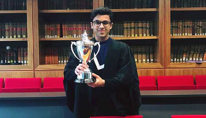 Pak graduate inspires UK's top 100 future lawyers