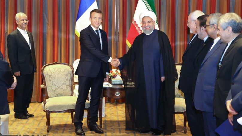 Macron and Rouhani criticize United States foreign policy