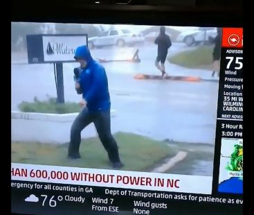 US weather reporter mocked for 'Oscar-worthy' broadcast as he exaggerates the force of Hurricane during coverage in NY