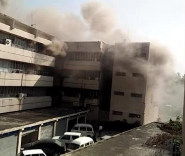 Fire-fighters concurrently manage to douse fire at PID building, investigations underway
