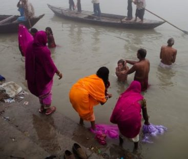 Two men taken into custody for sexually molesting a woman near 'Ganges' River