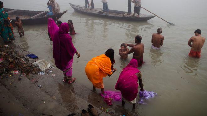 Two men taken into custody for sexually molesting a woman near 'Ganges' River