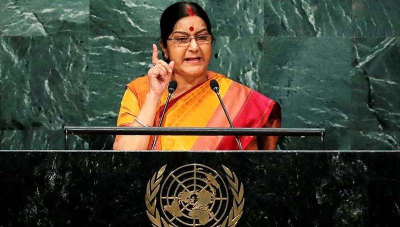 Swaraj under fire over useless speech at UNGA