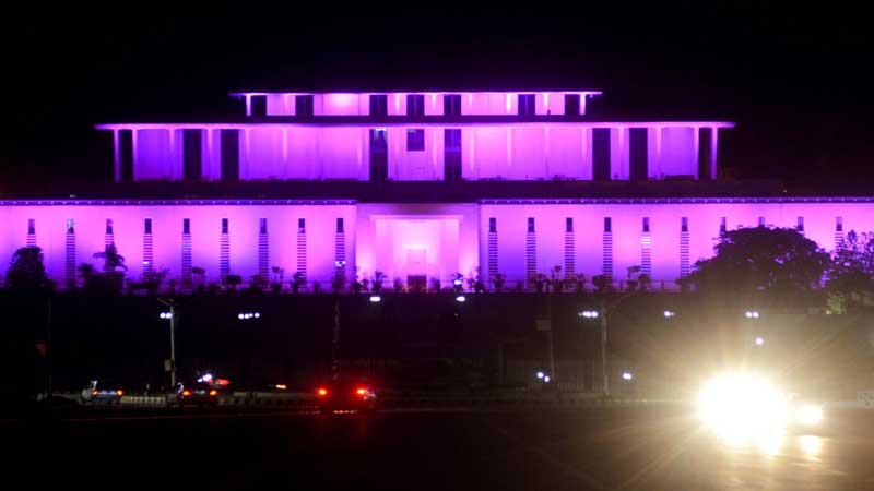 Awareness Campaign: President House turns Pink to commemorate 'Pinktober'