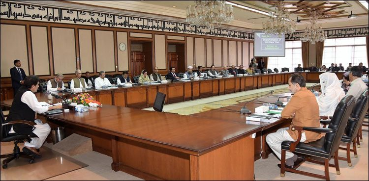 PM Imran Khan chairs federal cabinet meeting at PM House