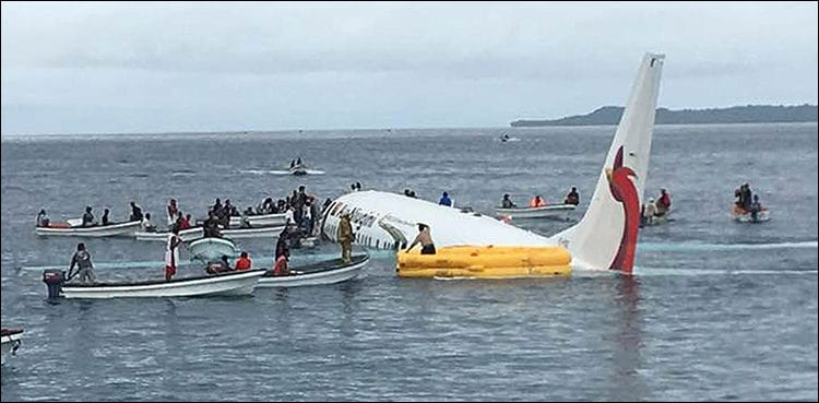 Plane crashes into Pacific Ocean, all passengers and crew survive