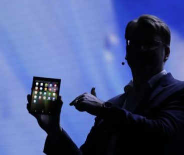 Samsung unveils its first new foldable phone