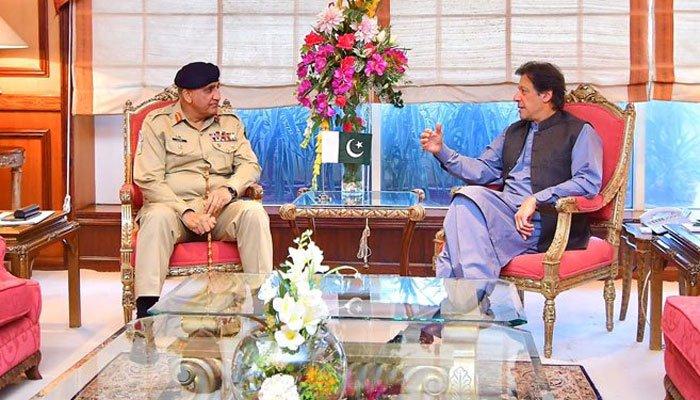 PM Imran Khan and COAS General Bajwa talk over national security