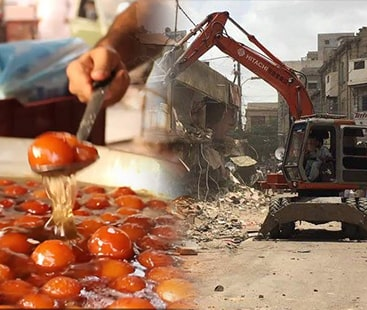 Anti-encroachment operation:Karachi's oldest and most popular food street witnessed massive demolitions