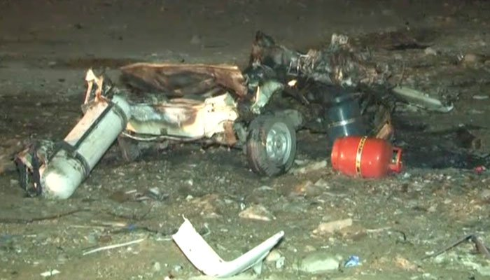 CTD registers case of mysterious car bomb explosion in Karachi