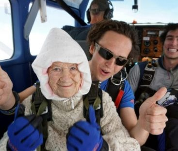 World's oldest skydiver breaks through all records