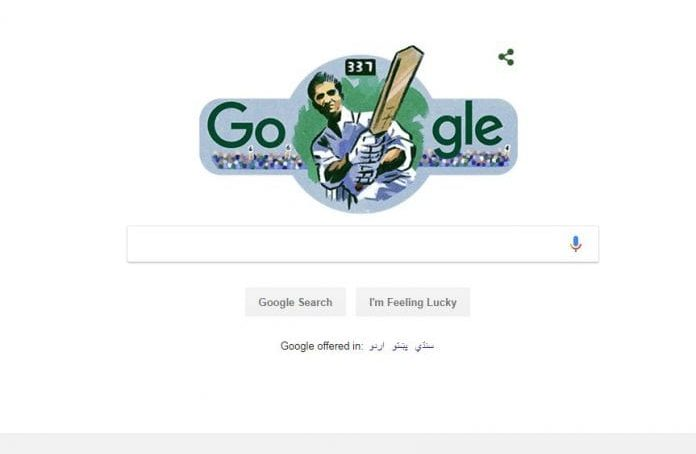 Google pays tribute to the 'Little Master of the cricket world'