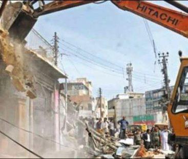 Anti-encroachment operations resume, nearly 150 shops razed in Korangi