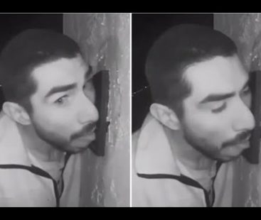 Man in California seen licking doorbell for hours