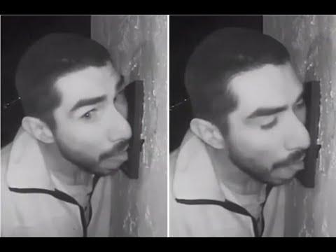 Man in California seen licking doorbell for hours